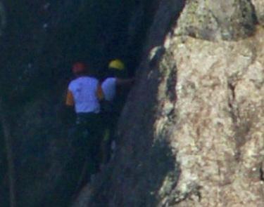 Encontre os escaladores no detalhe da foto no tour virtual gigapixels